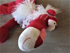"Walmart LION Red Valentine's Day 7"" Plush -Pose Limbs -Heart Bow Fun Look"