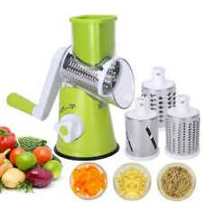 Stainless Steel Hand Crank Rotary Cheese Grater Vegetable Food Chopper Shredder