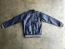 SAMPLE Adidas x Vespa Leather Motorcycle Jacket sz 50 Large Blue