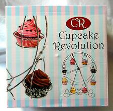 Rivoluzione Cupcake - finitura cromata, ruotando la rotella di Ferris Cupcake Stand