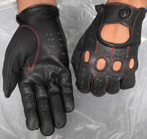 Genuine Leather Full finger Driving Gloves FASHION DRESS Gloves Riding Glove AUK