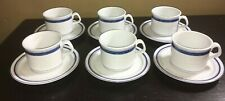 (6) Dansk NEW SCANDIA  Cups & Saucers