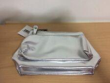 Macys Bonus Skincare Makeup 2 PCS Travel Size Gift Bags Silver