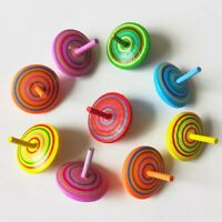 12X Classic Wooden Spinning Balance Top Peg-Top Kids Educational Chinese Toys