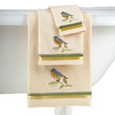 Birds And Blooms Bathroom Towel Set, by Collections Etc