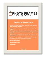 White Photo Frame With Mounts Flat Photo Frame Wood Effect Poster Picture Frames