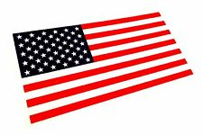 """Color US MADE 3M Reflective American US patriotic Flag Sticker Decal  4"""" x 2"""""""