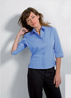 NEW LADIES WOMENS KUSTOM KIT KK715 BLUE OFFICE BUSINESS WORK WEAR SHIRT BLOUSE