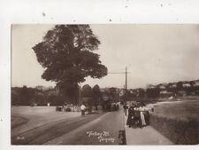 Torbay Road Torquay Devon 1917 RP Postcard Tram 574b