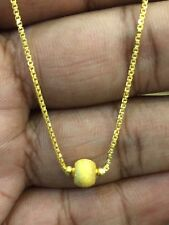 Classy Dubai Handmade Chain Necklace In Solid 916 Stamped 22Karat Yellow Gold
