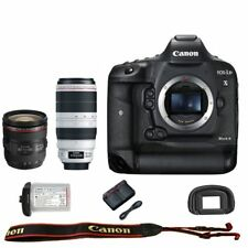 Canon EOS 1DX mark II DSLR Camera Body 24-105mm f/4L IS USM + 100-400mm USM II