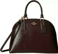 *NWT* Coach Bag Quinn Crossgrain Patent Leather Satchel Dome Crossbody Oxblood