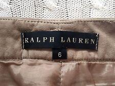 RALPH LAUREN Supple Light Grey Suede Pants (retail £1,300)