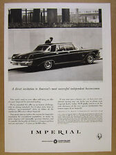 1963 Chrysler Imperial Crown Four-Door sedan car photo vintage print Ad