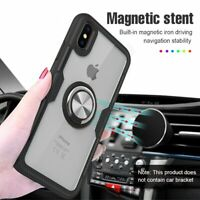 Hybrid Magnetic Ring Holder PC Case For iPhone 11 Pro Max XS Max XR 7 8 Plus 6s