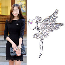 Angel Crystal Rhinestone Brooch Pin Bridal Bonquet Favor Jewelry Gift 6x4 cm