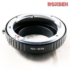 Nikon F AI MANUALE apertura Lente Per Leica M39 L39 Mount Vite Camera Adapter