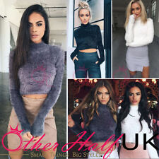 Polyester Winter Cropped Jumpers & Cardigans for Women