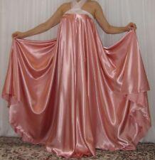 VTG Lingerie Satin Halter Slip Full Sweep Negligee Babydoll LONG Nightgown 2X-3X