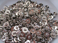 LOT OF 250 SILVER COLOR 1/2 INCH SHANK BUTTONS, NEW