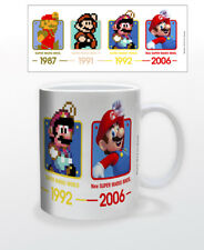 SUPER MARIO EVOLUTION 11 OZ MUG NINTENDO VIDEO GAMES CLASSIC TOAD YOSHI PRINCESS