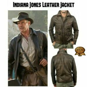 Indiana Jones Harrison Ford Classic Genuine Real Distressed Leather Jacket
