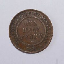 1921, 1/2 Penny Australia High Value Vintage Coin