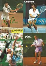 Lot 4 autographes tennis Heike rusch, Hans-Jörg schwaier 2x, Judith wiesner xyz