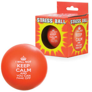 Sweary Keep Calm Stress Ball - Novelty Funny Gift