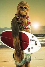 Star Wars Poster Chewbacca Surfin' !!