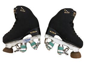Black Edea Rondo Professional Roller Skates With Variant Plates Size 205
