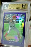 ⚾2011 Bowman Chrome draft purple refractors Mike Trout BGS 9.5 not topps update