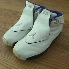 AIR JORDAN ORIGINAL Retro 18 XVIII White/Royal Blue Vintage Nike WIZARDS Sz 6