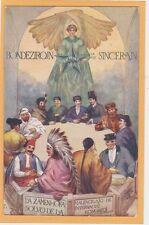 Esperanto Postcard - Group of Multicultural Men - Message in Esperanto