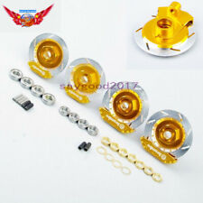 1:10 RC Alloy Wheel Rim Brake Disc Gold Set  For HPI HSP Racing Model Car Truck