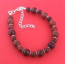 NEW! Mahogany Obsidian Gemstone Handmade Unique Women's Bracelet - Aussie Seller