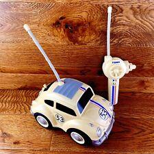 RARE Vintage 1990 Tomy completamente caricata R/C Herbie Telecomando Auto Giocattolo fwo in buonissima condizione