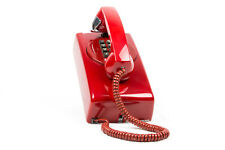 Fully Restored to new Old Style Touch Tone-3554 - Wall Phone w/back plate-Red