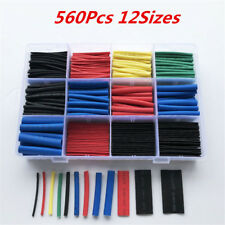 560Pcs Cable Heat Shrink Tubing Sleeve Electrical Wire Wrap Tube 2:1 Assortments