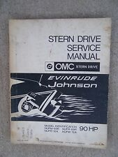 1970 OMC Stern Drive 90 HP Evinrude Johnson Boat Engine Service Manual  U