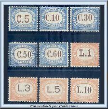 1926 San Marino Segnatasse Serie completa n. 19/27 Centrati Nuovi Integri **