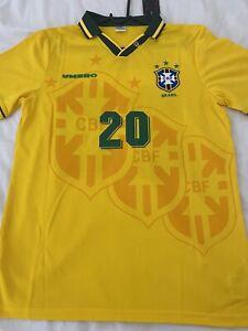 Retro Brazil Home Shirt - USA 1994 - Ronaldo 20 - Umbro - Large