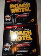 Roach Motel Black Flag 2x (4 Traps Total) Roach Spiders Scorpions Sticky Trap
