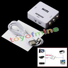 Convertidor HDMI a RCA AV compuesto / CVBS L / R del adaptador video 720P,1080P