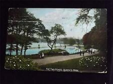 OLD POSTCARD OF TWO PONDS QUEENS PARK - USED 1909