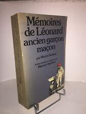 Mémoires de Léonard ancien garçon maçon par Martin Nadaud. Agulhon