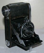 Balda Baldinette Folding / Bellows Roll Film Camera & Werk Baltar Lens & Case