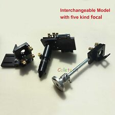 "Interchangeable Co2 Laser Head Set Multi-focal 2""-5"" Engraver Cutter universal"