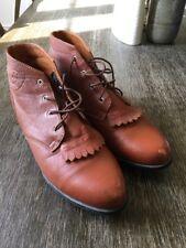 Ariat Womens Advanced Torque A-1 Jessie Brown Leather Tassle Boots Size 10