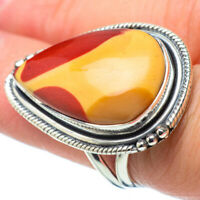 Large Mookaite 925 Sterling Silver Ring Size 7.75 Ana Co Jewelry R31490F